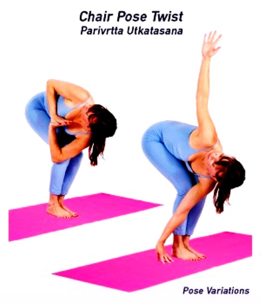 Yoga Chair PoseTwist Utkatasana