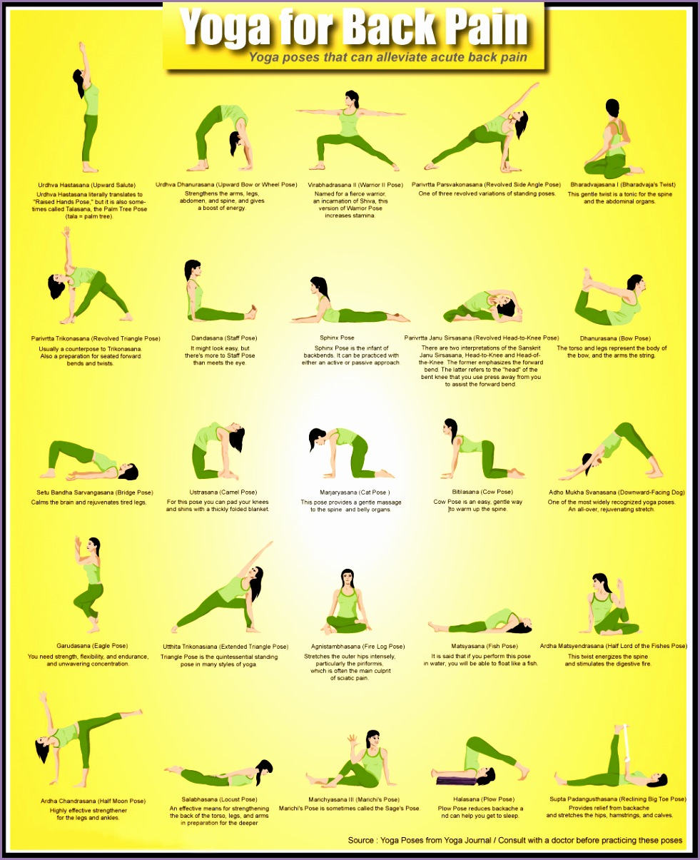 yoga poses back pain