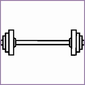 Weight bar clipart