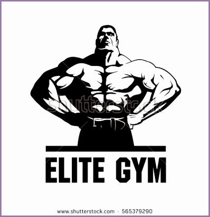 gym logo vector fitness club logo design bodybuilder vector image