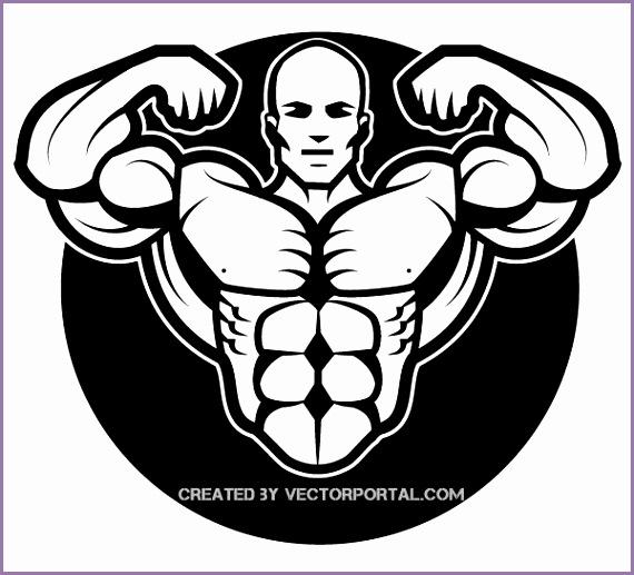 Bodybuilder Vector Image
