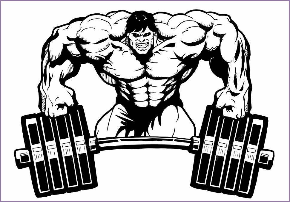 Bodybuilder gym logo — Stock