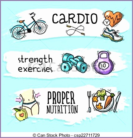 Fitness and Nutrition Clip Art