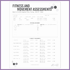 Fitness & Movement Assessment Form ""