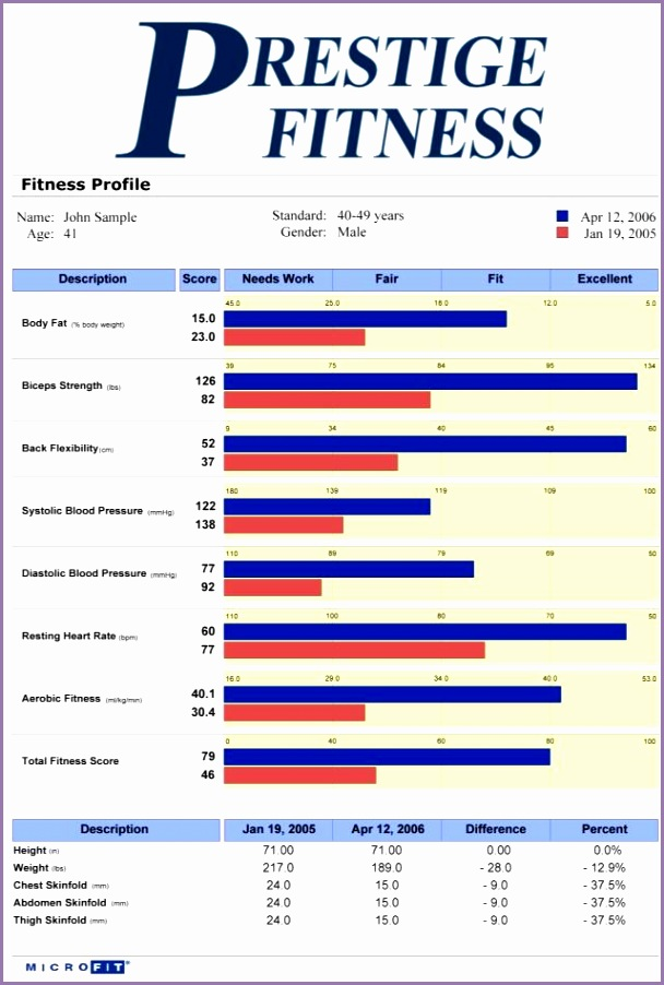 fitness assessment report