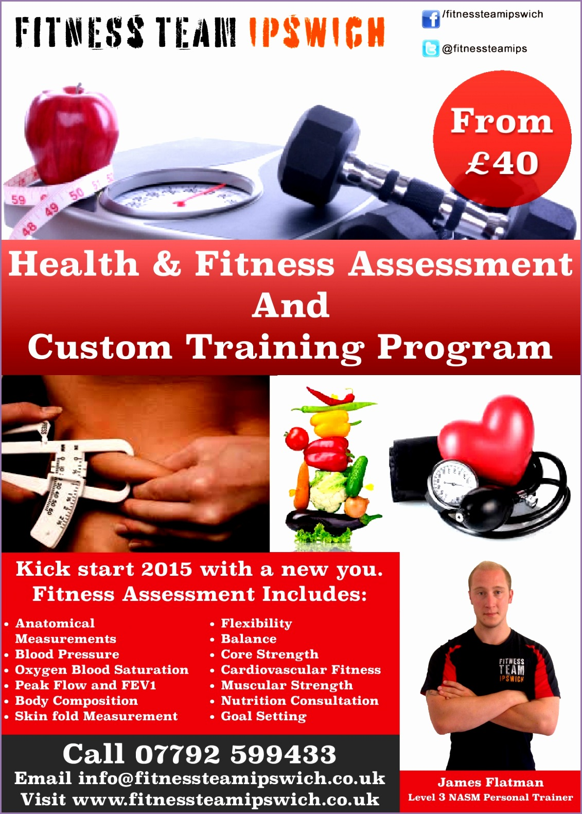 Health & Fitness Assessment FTI JANUARY% James Flatman