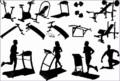 4 Fitness Center Clip Art