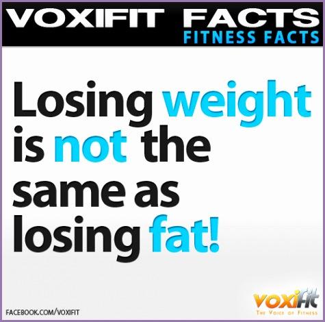 Fitness Facts and Motivation Weightloss vs Fatloss
