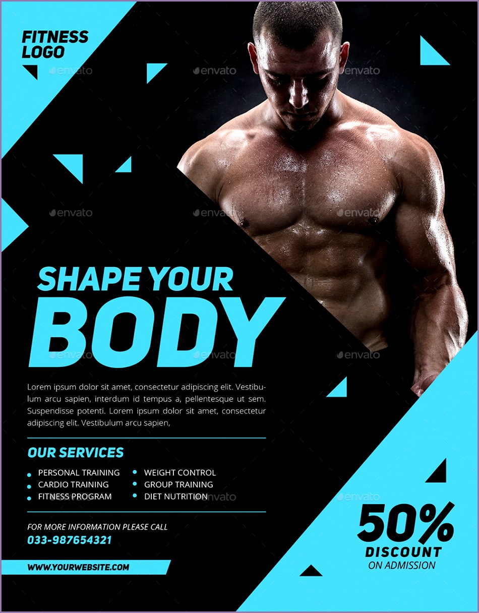 Preview Image Set fitness flyer 01
