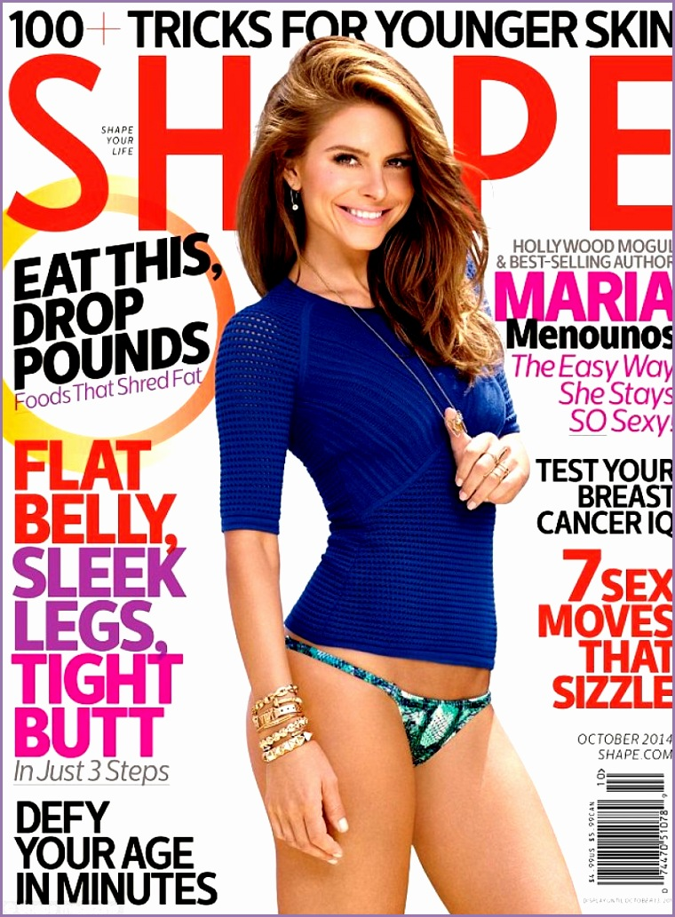 Maria Menounos in Shape Magazine October 2014