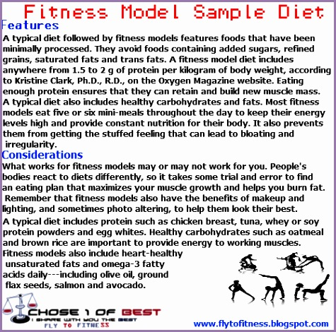 t plan of a female fitness model