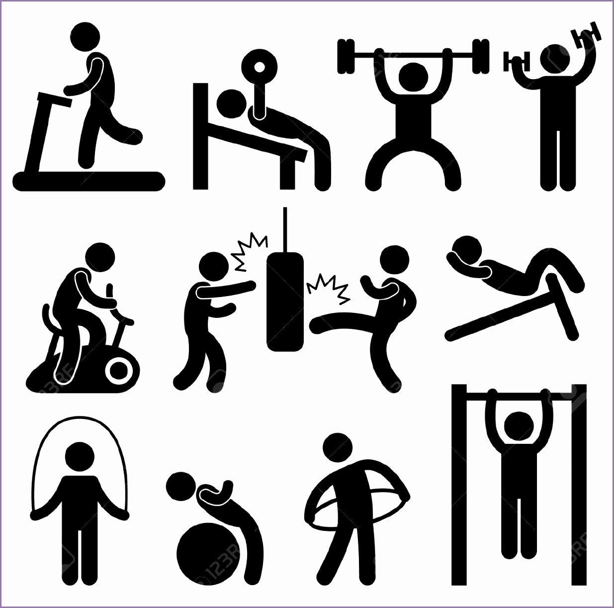 training gym clipart