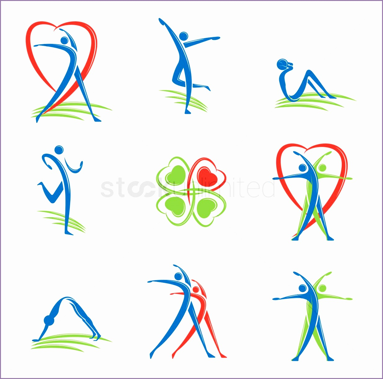 fitness logo vector graphic