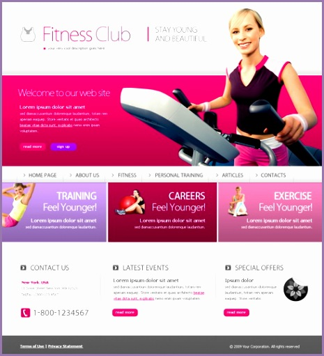 6188 Templates Website Templates Sports & Fitness