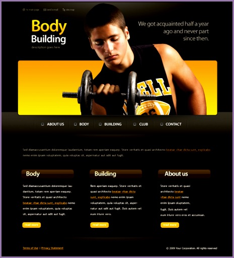 6164 Templates Website Templates Sports & Fitness