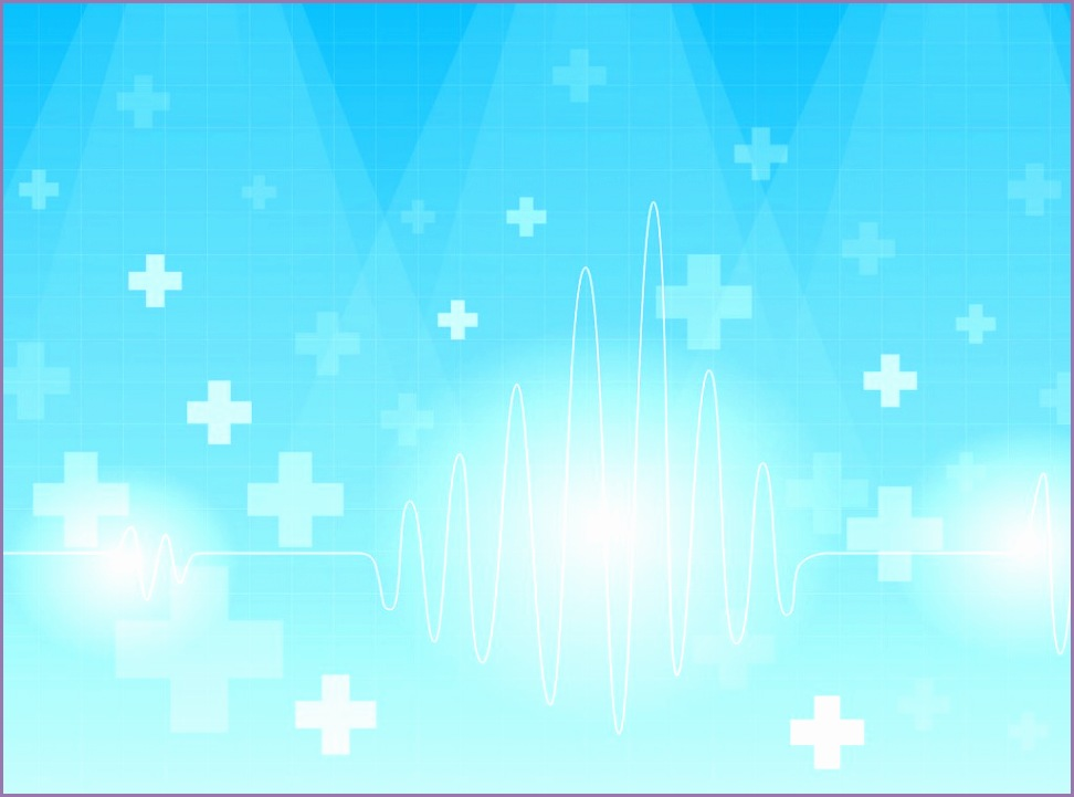 on a blue backgrounds blue health medical white ppt backgrounds 3