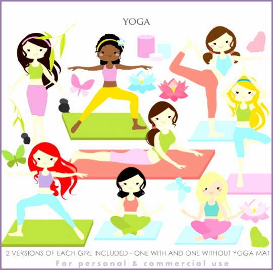 Yoga clipart yoga clip art girl gals fitness meditation spiritual health gym practice Hindu for personal and mercial use