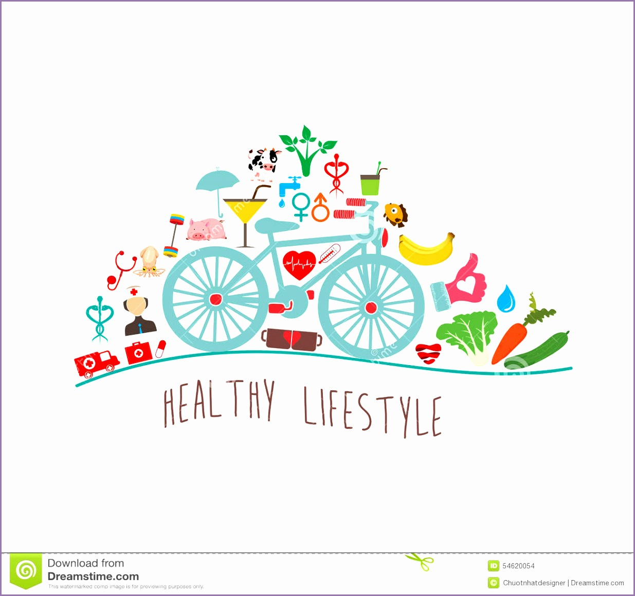 Healthy Lifestyle Background Stock