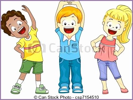 kids exercise vector clipart csp