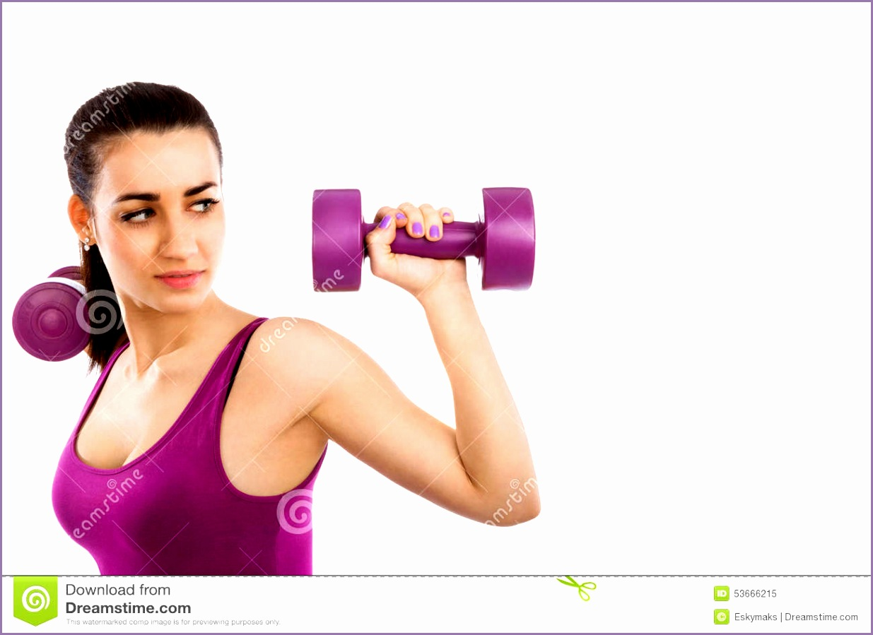 beautiful lady fitness copy space girl purple top purple dumbbells isolated white background girls