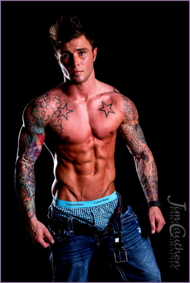 Fitness Model Alex Turner by Jim Cauthen Tattoos and Muscles
