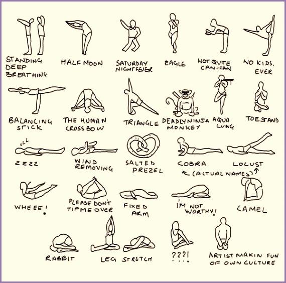 Bikram Yoga Postures spoof