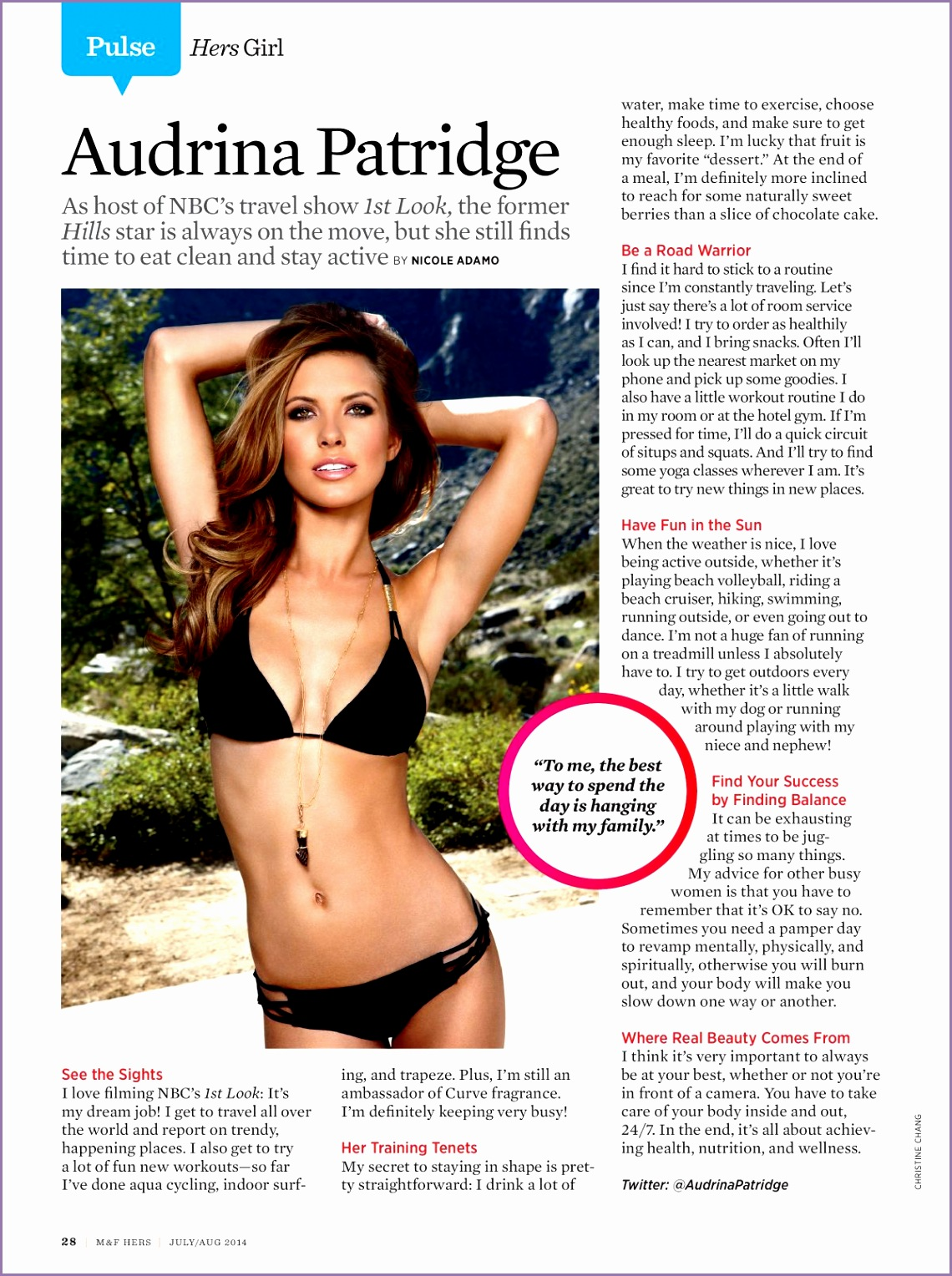 AUDRINA PATRIDGE in Muscle and Fitness Hers Magazine July August 2014 Issue