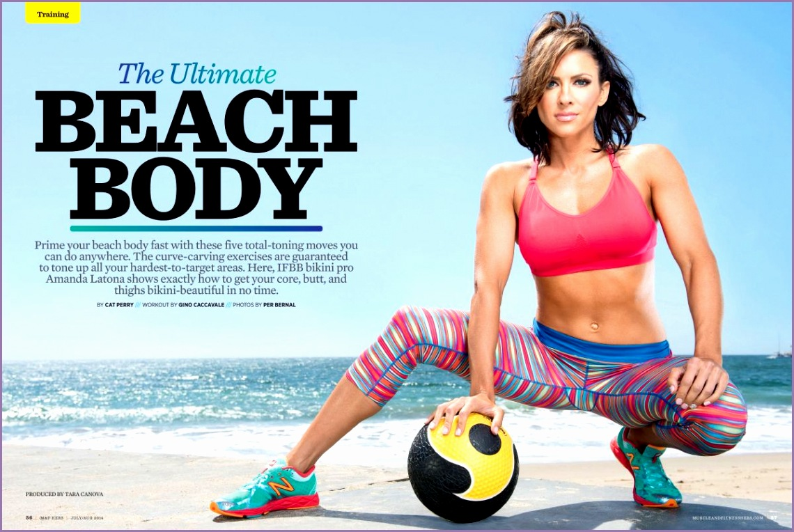 AMANDA LATONA in Muscle and Fitness Hers Magazine July August 2014 Issue