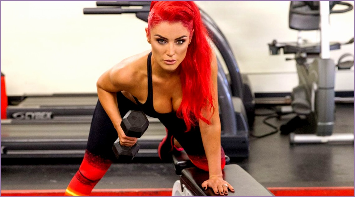 WWE – EVA MARIE Muscle & Fitness Hers shoot