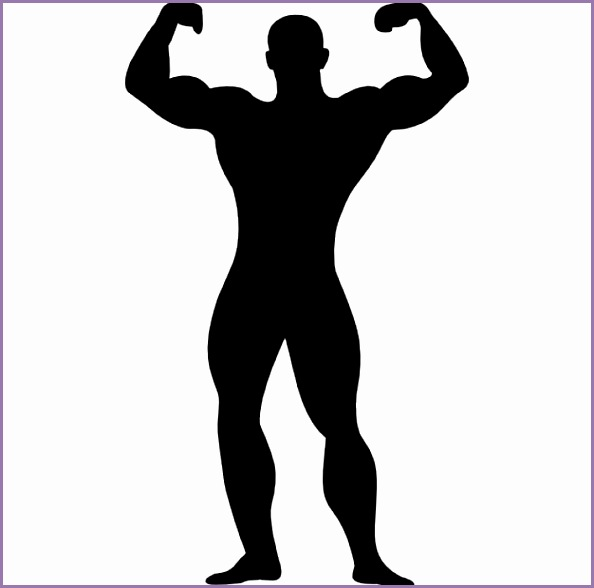 muscular man flexing silhouette 318