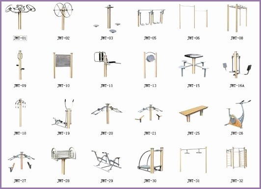 Outdoor Fitness Equipment Wood Plastic Series