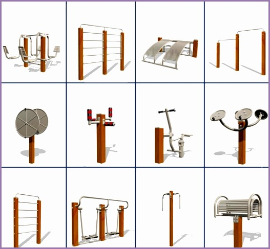 Wood Outdoor Gym Equipment