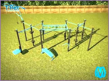 MoveStrong T Rex Outdoor Fitness Station customizable for your space and exercise needs