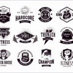 8 Vintage Gym Logo