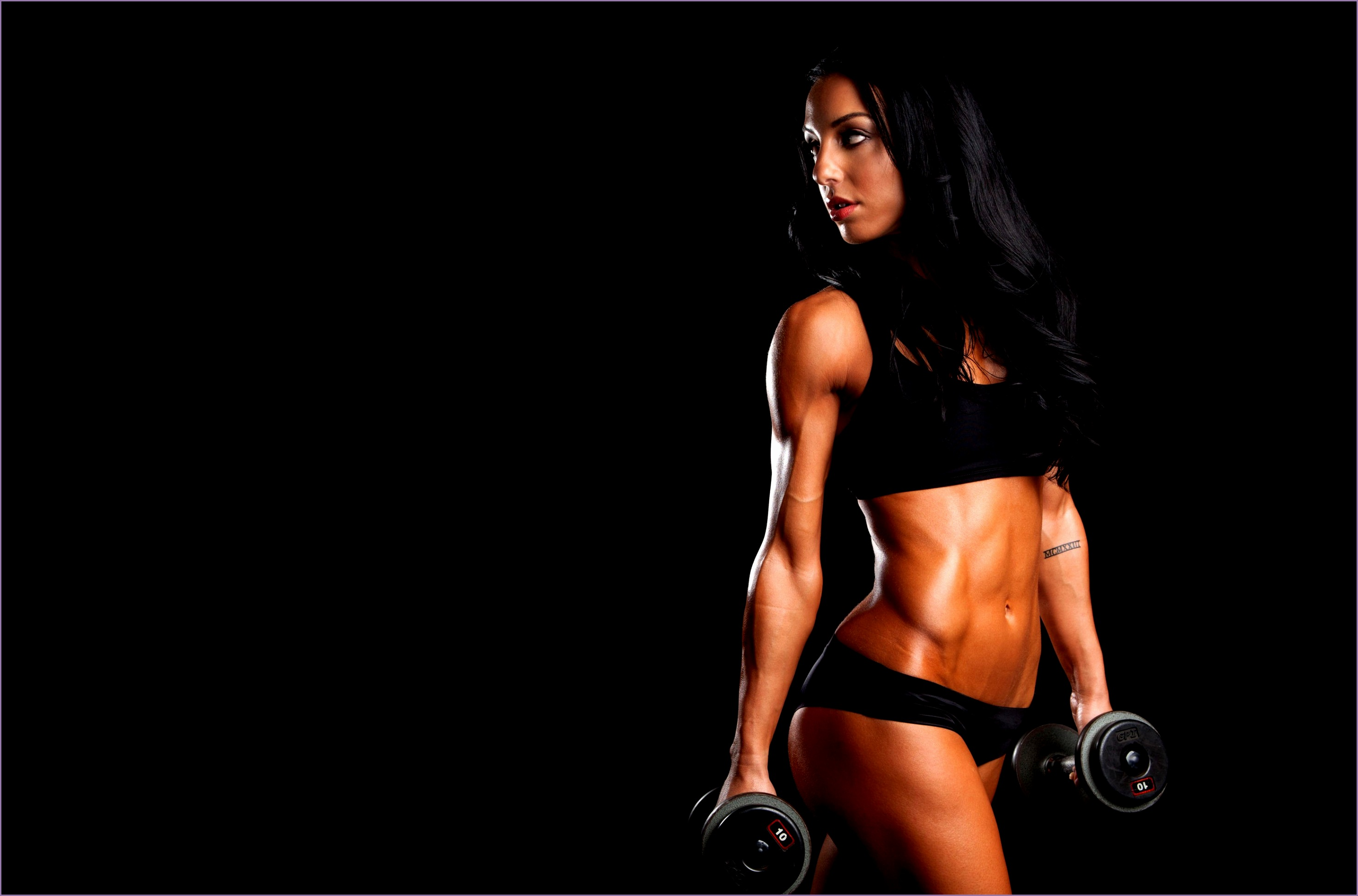 Women Fitness Models Wallpaper Letbsa Inspirational Women Fitness Model Working Out Skinny Dumbbells Simple