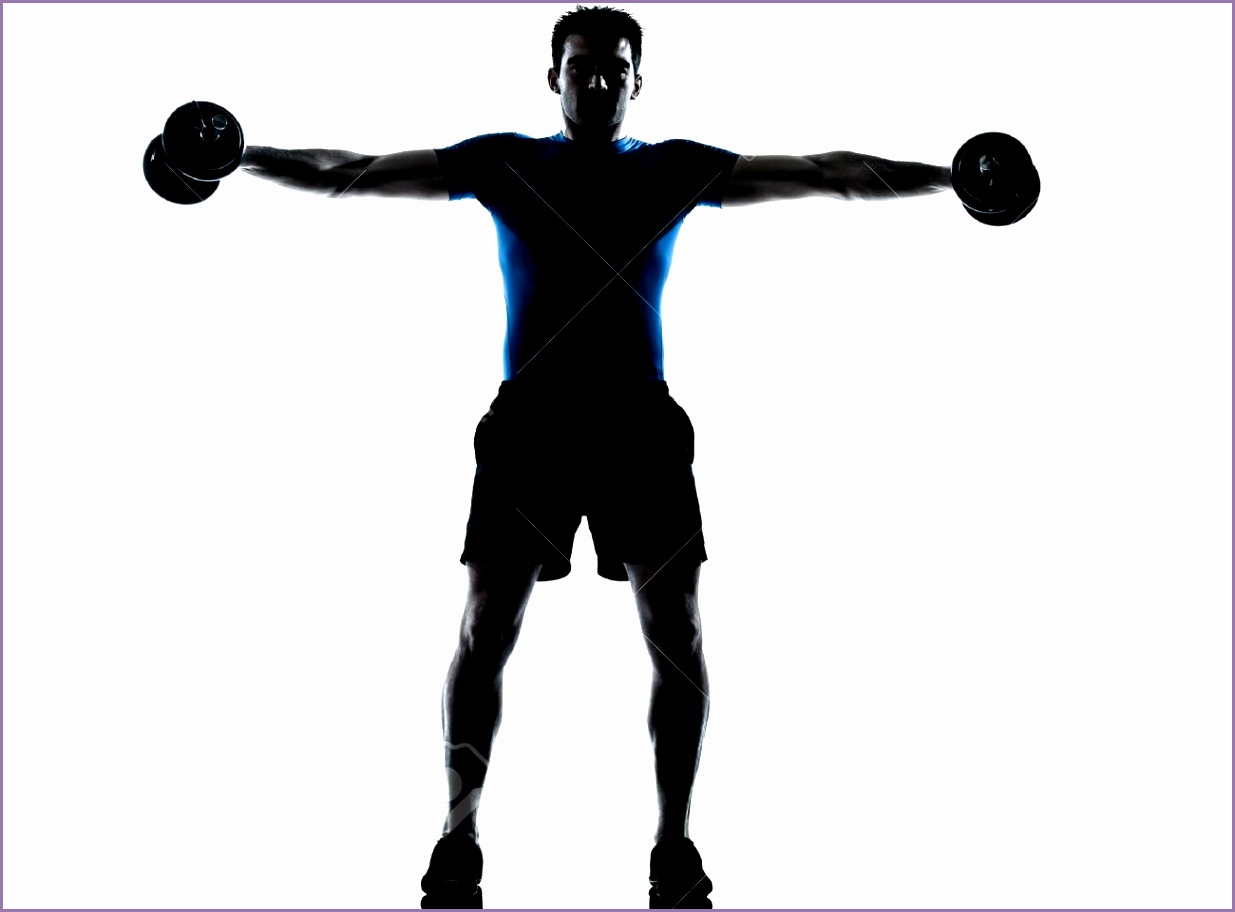 one caucasian man exercising weight training workout fitness in silhouette studio isolated on white Stock