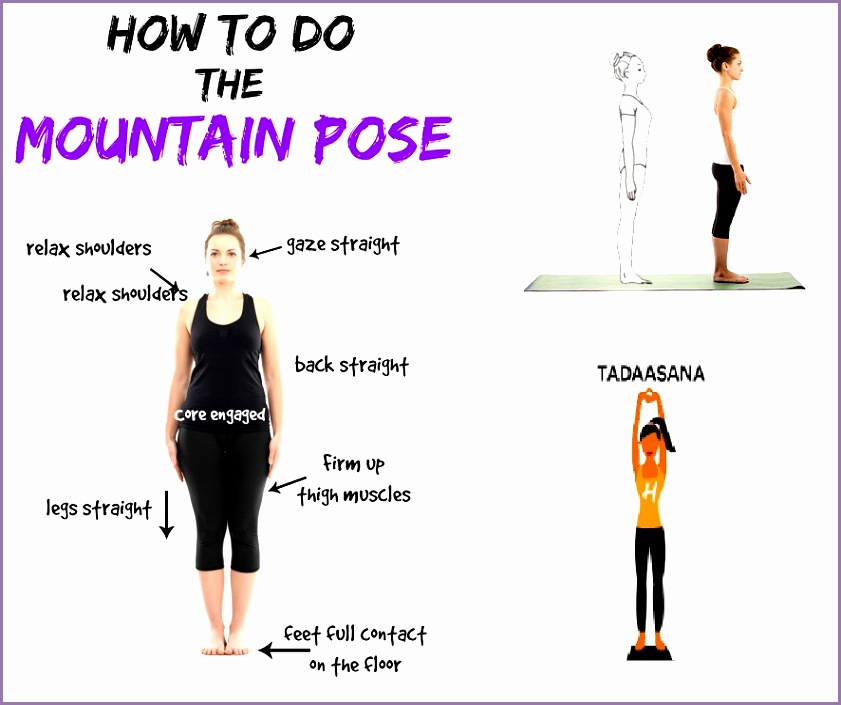 tadasana or mountain pose yoga for piles hemorrhoids