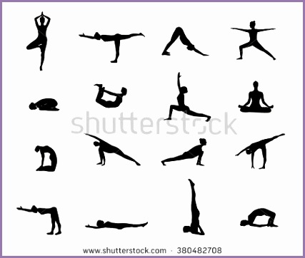 stock vector yoga poses silhouette silhouette black yoga set black silhouette of yoga pose yoga postures