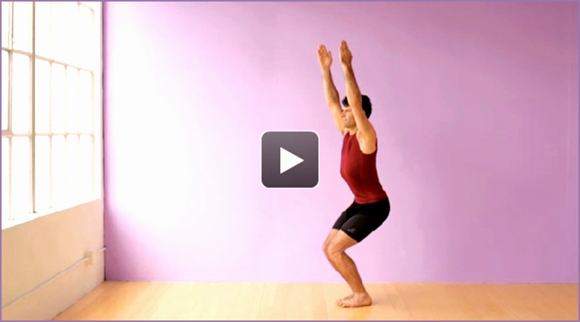 yoga video how to learn chair pose utkatasana