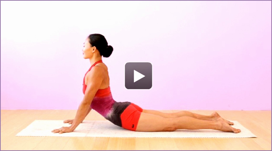 yoga video how to learn cobra pose bhujangasana
