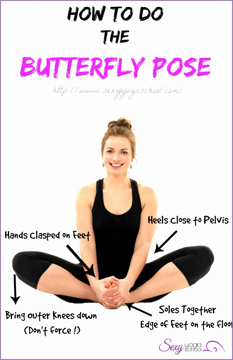 """Otherwise known as """"Bound Angle Pose"""" this yoga posture is also well known"""
