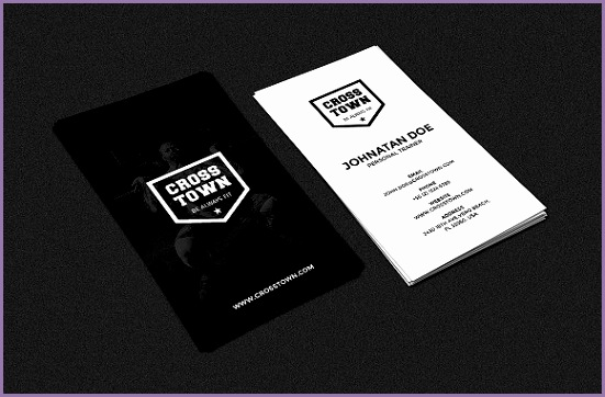 Gym Fitness Business Card Business Cards