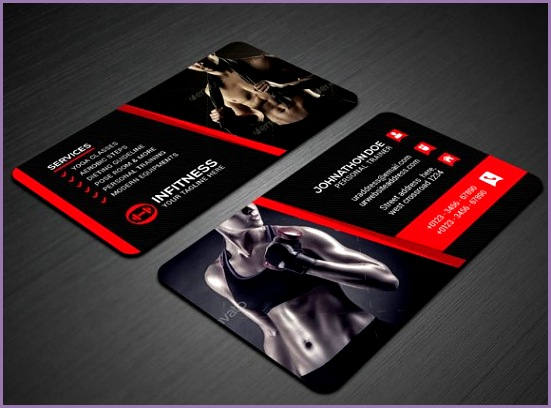 Fitness Business Card Business Cards