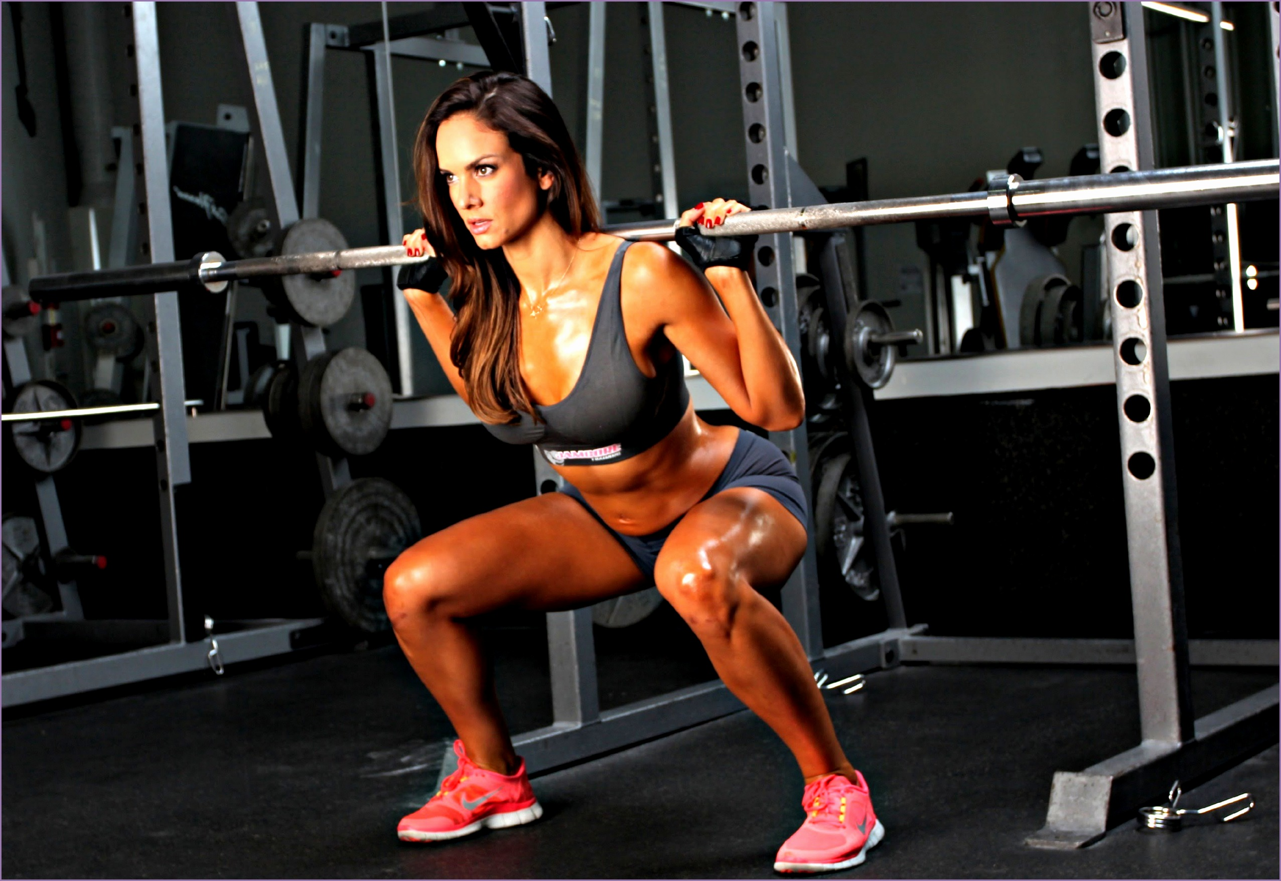 New 2014 Female Workout motivation Deadlift Legs Squat Arms Back Full Body Workout