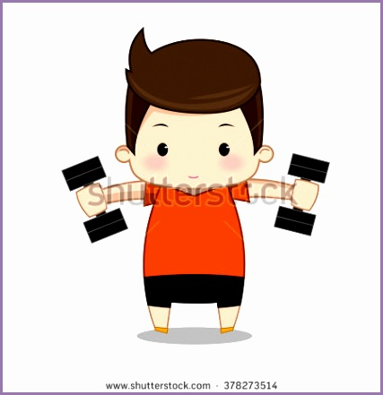 Fitness exercise cartoon man vector