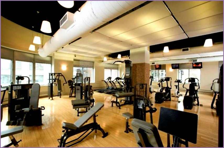 Modern Residential Apartment Fitness Center Interior Design The Capitol Chelsea Manhattan NYC