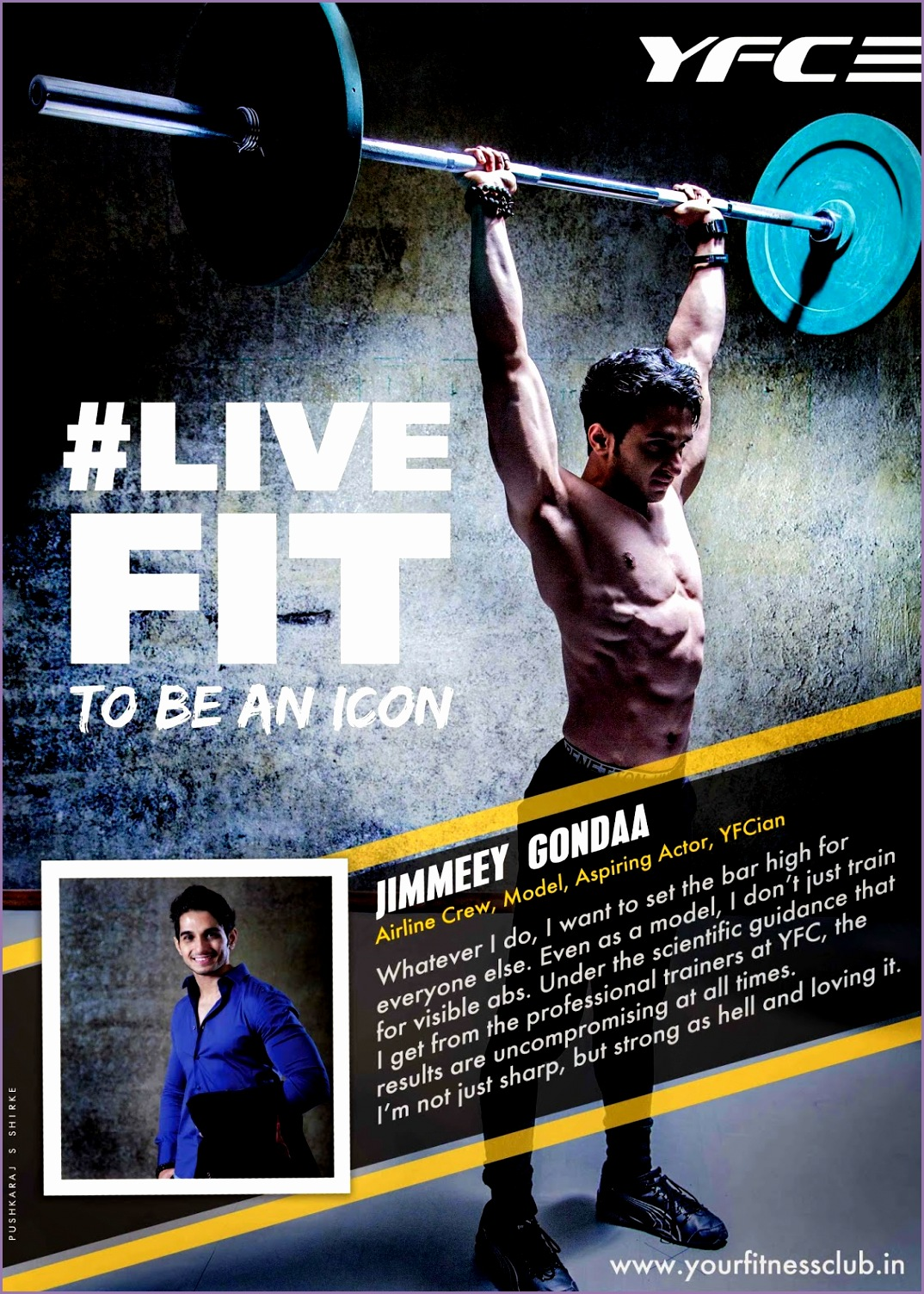 Pushkaraj S Shirke Your Fitness Club LIVEFIT Gym Advertising Camp