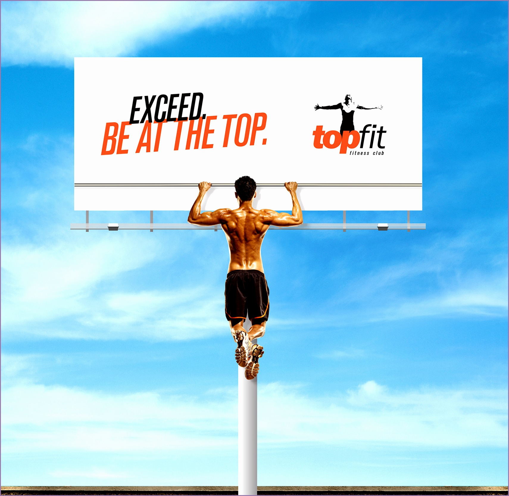 Topfit Fitness Club Outdoor Ad Pull up