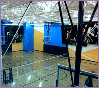 5 fitness connection basketball court work out picture for Cost to build a basketball gym