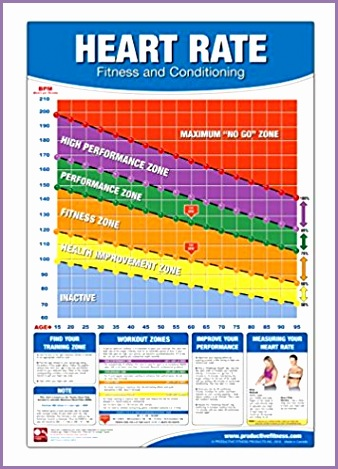Fitness Heart Rate Chart Poster Fitness Heart Rate Poster Training Zone Chart Workout Zone Maximum Heart Rate Poster Training by Heart Rate Poster